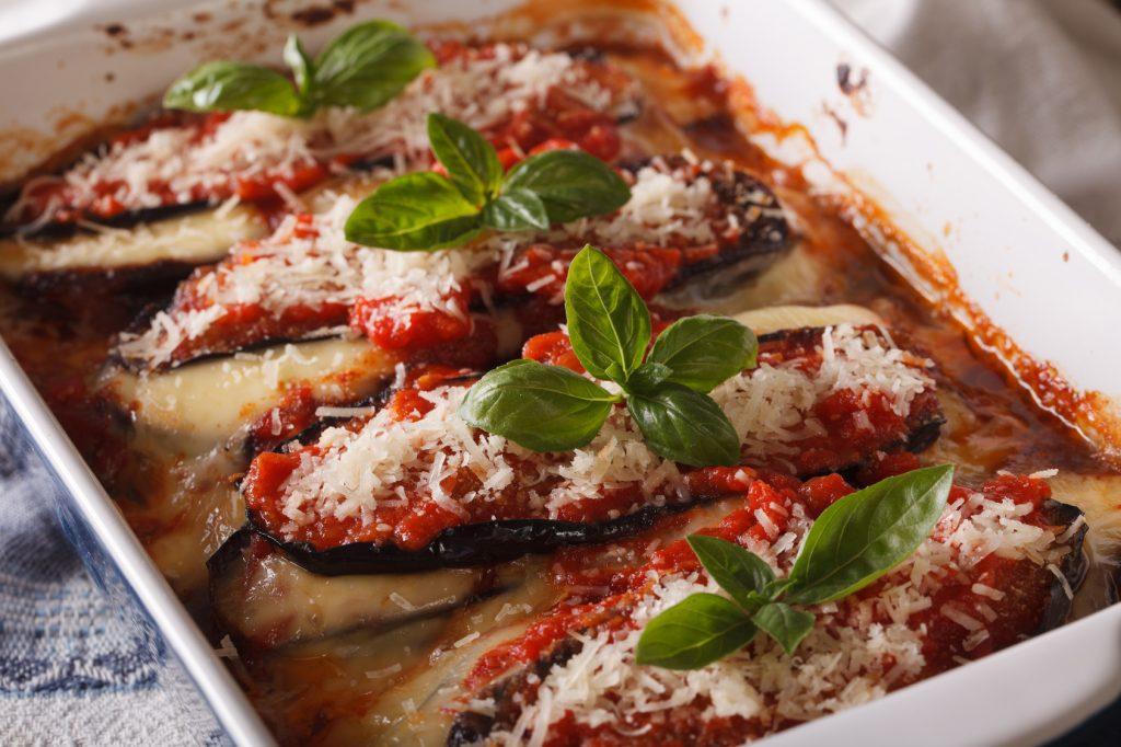 Przepis na parmigianę z bakłażanem
