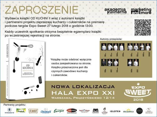 """Premiera książki """"Od Kuchni"""" 27.02 na Targach Sweet Expo. Odbierz darmowy egzemplarz"""