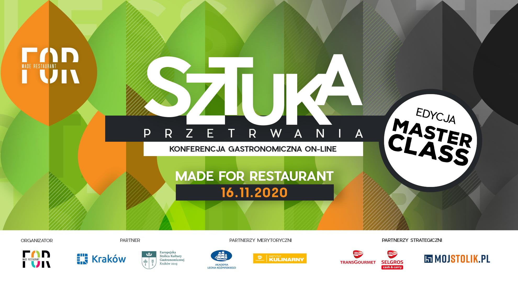 II Konferencja Kryzysowa dla Gastronomii Made for Restaurant -16 listopada 2020