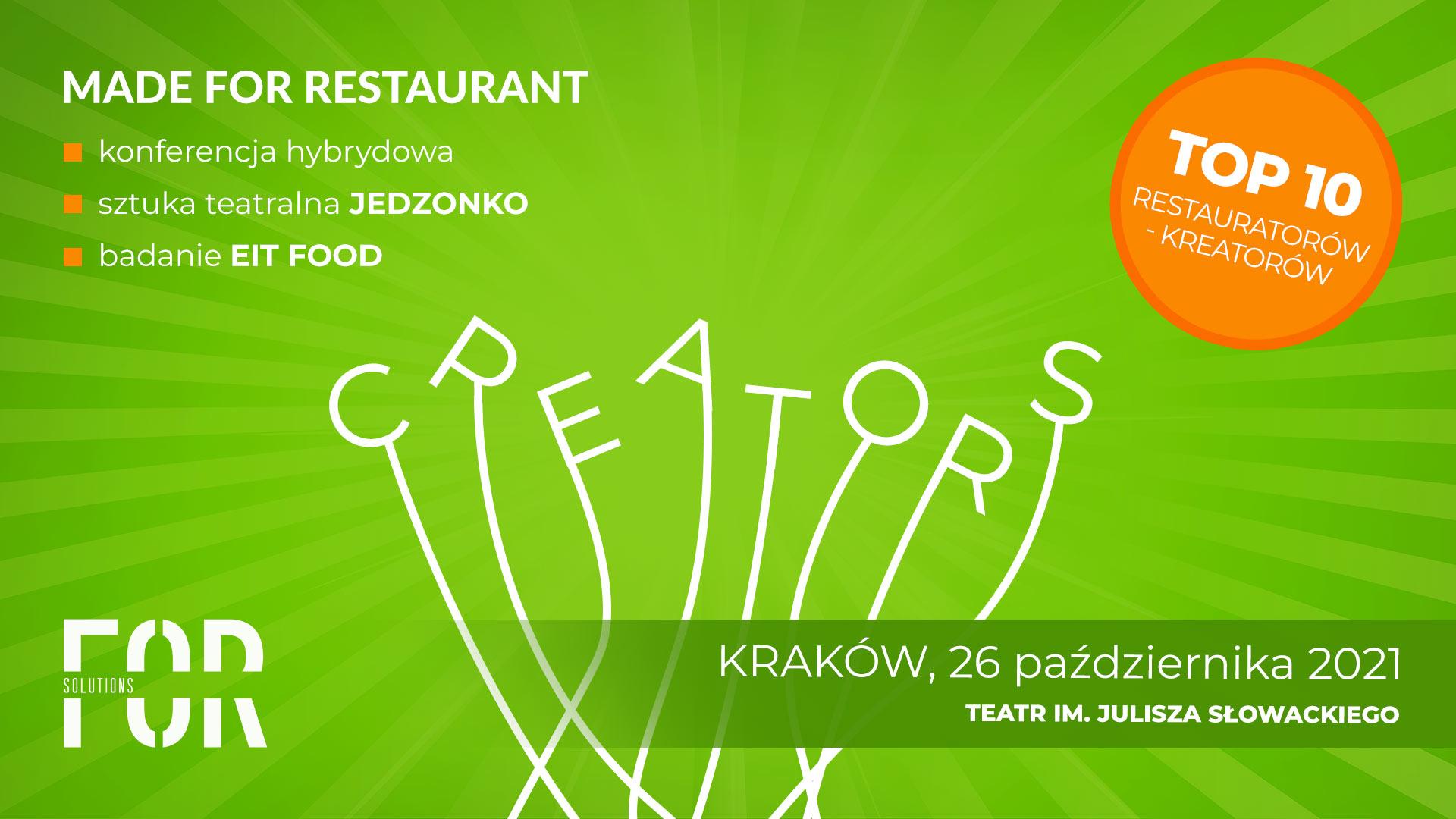 Konferencja Made For Restaurant – Creators 26.10.2021
